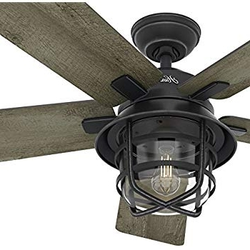 Hunter Indoor Outdoor Ceiling Fans With Lights Pertaining To 2018 Amazon: Hunter Channelside 52 In (View 8 of 15)