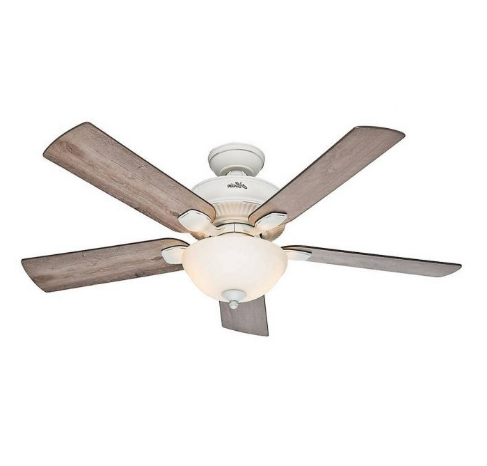 "Hunter Matheston 52"" Outdoor Ceiling Fan In Cottage White – Outdoor With Regard To Widely Used White Outdoor Ceiling Fans (View 13 of 15)"