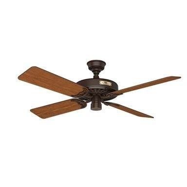 "Hunter Original 52"" Outdoor Ceiling Fan In Chestnut Brown – Outdoor Inside Famous Brown Outdoor Ceiling Fan With Light (View 10 of 15)"