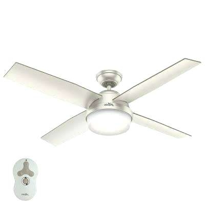 Hunter Outdoor Ceiling Fans Led Indoor Outdoor Matte Nickel Ceiling In Preferred Hunter Indoor Outdoor Ceiling Fans With Lights (View 11 of 15)