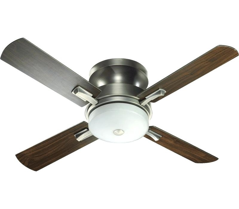 Hunter Outdoor Ceiling Fans With Lights And Remote Inside Recent Flush Ceiling Fans Beautiful Hunter Flush Mount Ceiling Fan With (View 7 of 15)