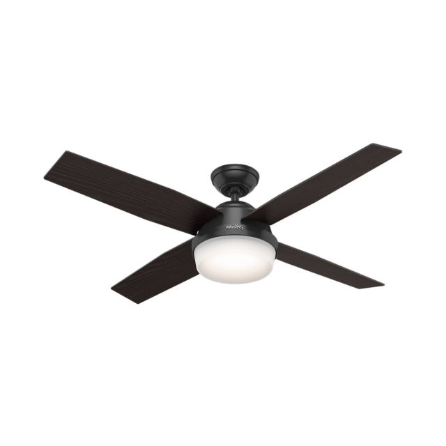 "Hunter Outdoor Ceiling Fans With White Lights Pertaining To Latest Hunter 59251 Dempsey 52"" Outdoor Ceiling Fan With Led Light & Remote (View 6 of 15)"