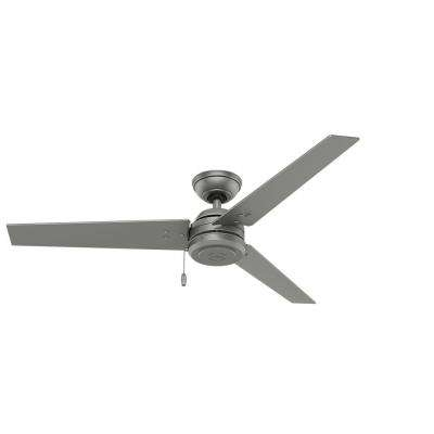 Hunter – Silver – Outdoor – Ceiling Fans – Lighting – The Home Depot Intended For Fashionable Outdoor Ceiling Fans At Home Depot (Gallery 9 of 15)