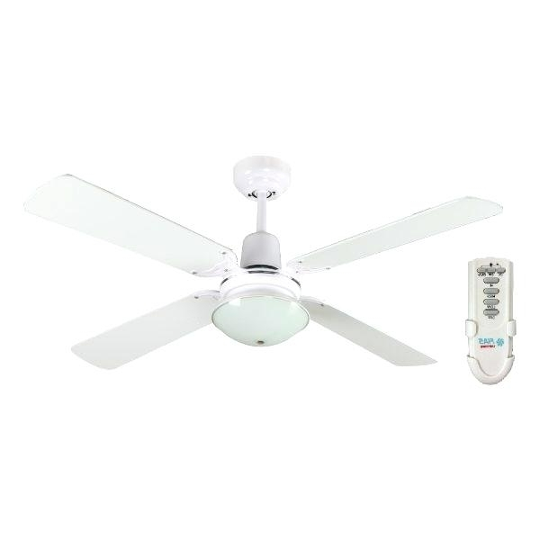 Inch Ceiling Fan With Light And Remote Control White With Elegant 48 Within Current 48 Inch Outdoor Ceiling Fans With Light (Gallery 5 of 15)