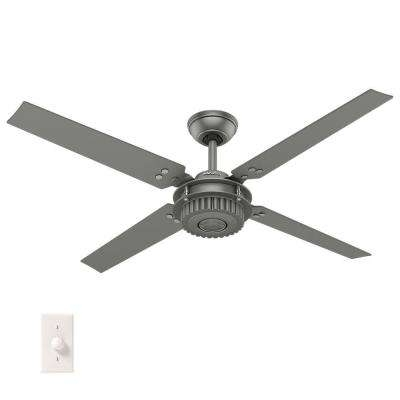 Industrial Outdoor Ceiling Fans Throughout Most Recent Hunter – Industrial – Outdoor – Ceiling Fans – Lighting – The Home Depot (View 6 of 15)