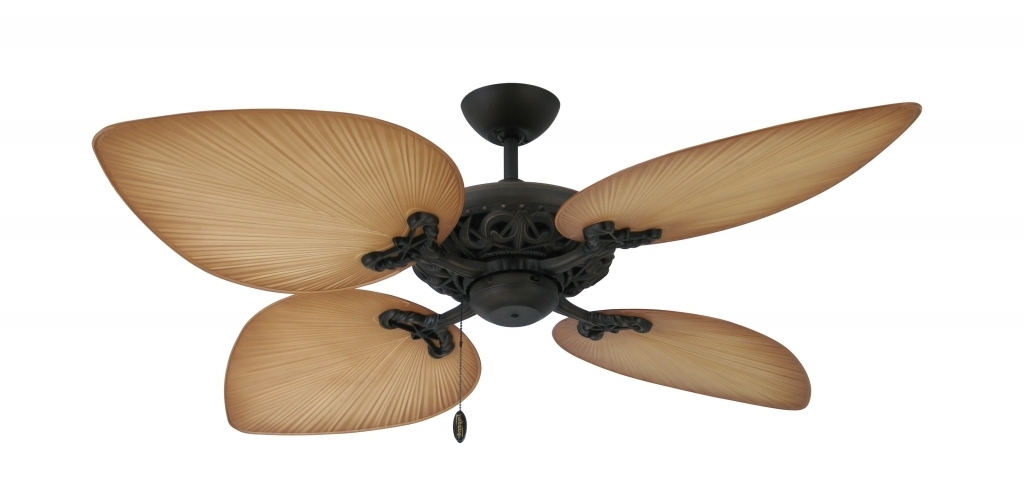 Interior Design: Outside Ceiling Fans Elegant Tropical Ceiling Fans With Regard To Most Popular Outdoor Ceiling Fans For Windy Areas (View 15 of 15)