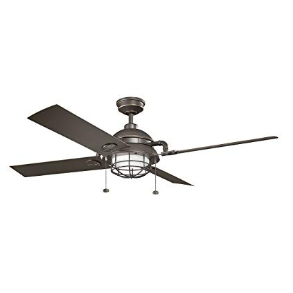 "Kichler 310136wzc Maor Patio Outdoor Ceiling Fan, 65"", Olde Bronze Inside Favorite Outdoor Ceiling Fans At Kichler (View 1 of 22)"