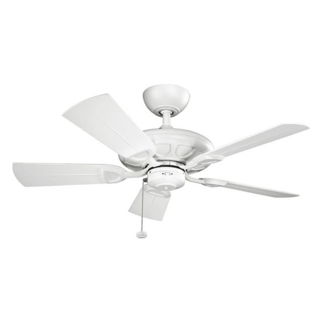 "Kichler 310144mwh Kevlar 42"" Outdoor Ceiling Fan In Matte White (View 11 of 22)"