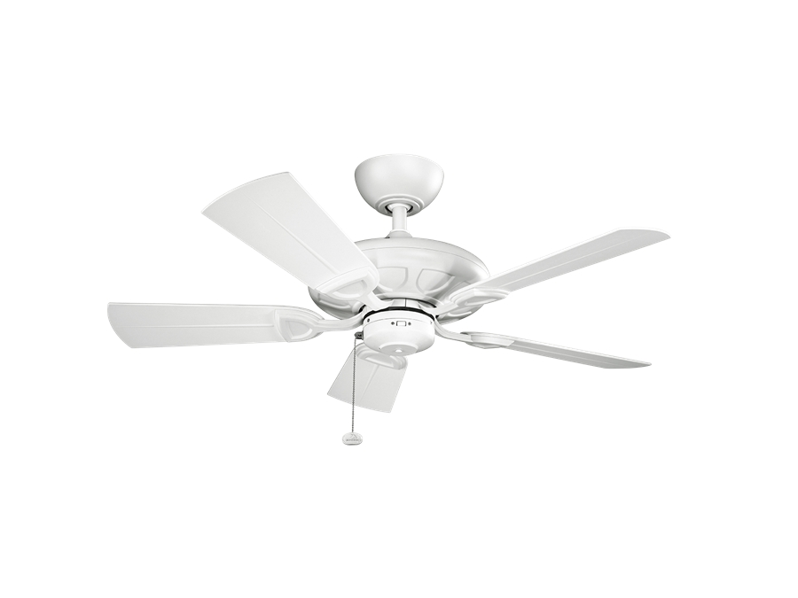 Kichler 42 Inch Kevlar Outdoor Ceiling Fan – Matte White In Most Up To Date 42 Inch Outdoor Ceiling Fans (View 14 of 15)