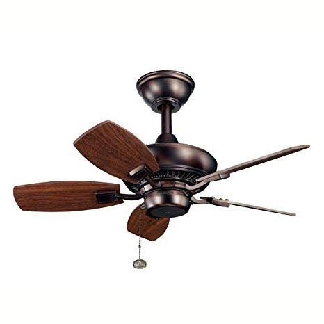 Kichler Outdoor Ceiling Fans With Lights Inside Widely Used Kichler 300103Obb 30 Inch Canfield Fan, Oil Brushed Bronze – Outdoor (View 8 of 15)