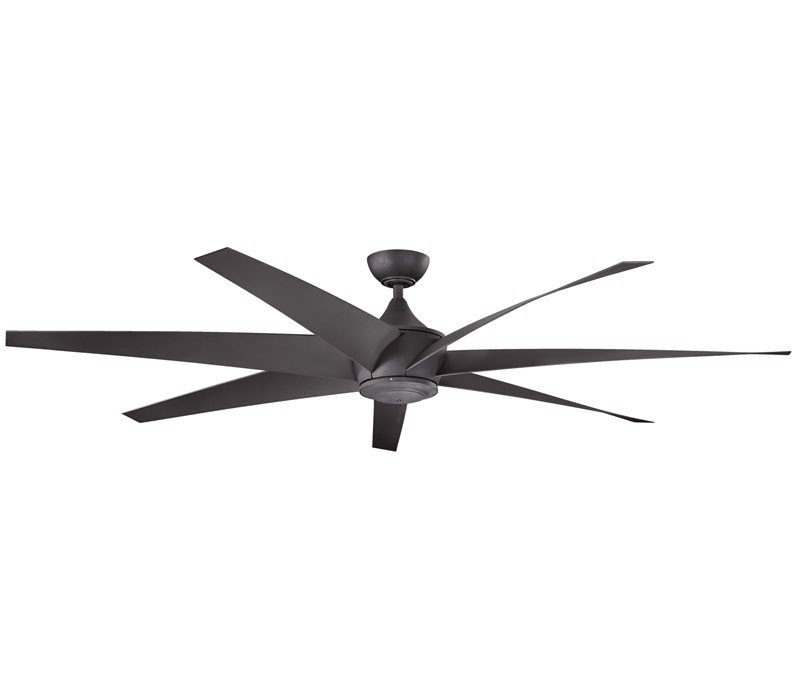 Kichler Outdoor Ceiling Fans With Lights Within Most Current Kichler 310115Dbk Lehr 80 Inch Distressed Black Ceiling Fan (Gallery 11 of 15)