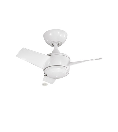 Kichler Yur Fan In White 310124Wh Pertaining To Most Up To Date 24 Inch Outdoor Ceiling Fans With Light (View 10 of 15)