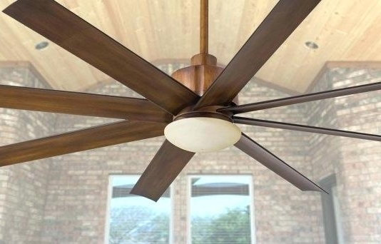 Large Outdoor Ceiling Fans With Lights Regarding Most Recent Outdoor Fan With Light Large Outdoor Fans Quorum Outdoor Ceiling Fan (Gallery 1 of 15)