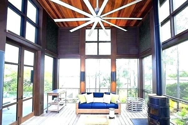 Large Outdoor Ceiling Fans With Lights With Regard To Latest Best Large Ceiling Fans – Metrovethosp (View 10 of 15)