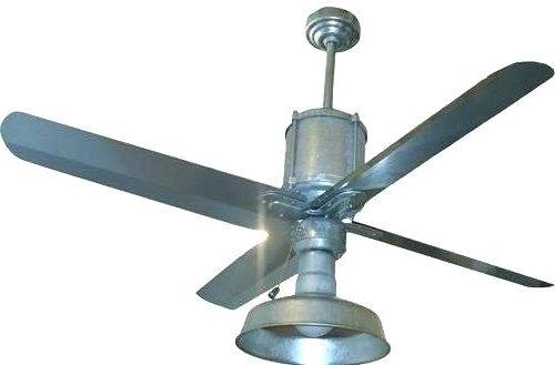 Latest Galvanized Ceiling Fanall Weather Galvanized Inch Blade Span Pertaining To Outdoor Ceiling Fans With Galvanized Blades (View 15 of 15)