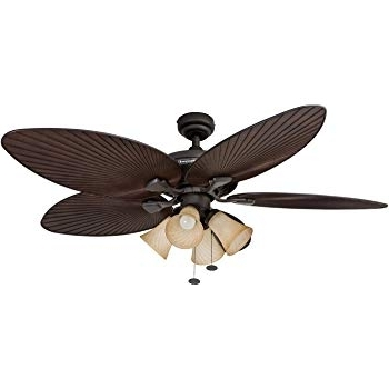 Latest Gold Coast Outdoor Ceiling Fans Throughout Amazon: Honeywell Palm Island 52 Inch Tropical Ceiling Fan, Five (View 9 of 15)