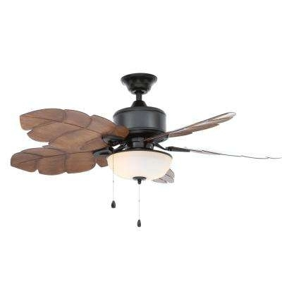 Latest Outdoor Ceiling Fan With Light Under $100 Throughout Outdoor – Ceiling Fans – Lighting – The Home Depot (View 3 of 15)
