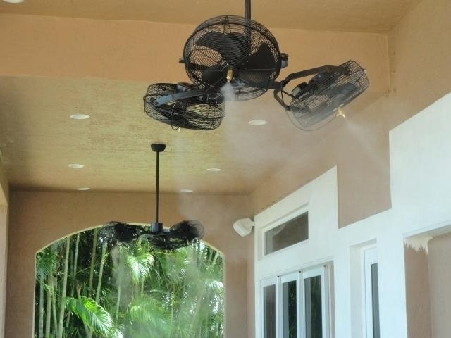 Latest Outdoor Ceiling Fans With Misters In Decoration: Best Outdoor Ceiling Fans With Regard To Misters (View 2 of 15)