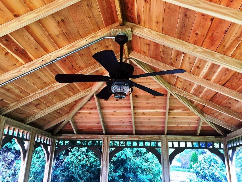 Latest Portable Gazebo Ceiling Fan : Enjoy Outdoors Gazebo Ceiling Ideas Inside Outdoor Ceiling Fans For Gazebo (View 5 of 15)