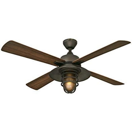 "Latest Westinghouse 7204300 Great Falls One Light 52"" Abs Resin Four Blade With Outdoor Ceiling Fans For High Wind Areas (View 6 of 15)"