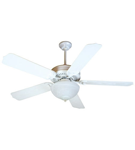 Latest White Outdoor Ceiling Fans Intended For Craftmade K10738 Porch 52 Inch White Outdoor Ceiling Fan Kit In (View 4 of 15)