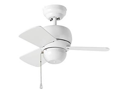 "Latest White Outdoor Ceiling Fans With Lights In Monte Carlo 3tf24wh Micro 24 Ceiling Fan, 24"", White – Outdoor (View 14 of 15)"
