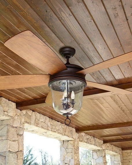 Lights And Fans With Regard To Outdoor Ceiling Fans With Lantern Light (View 5 of 15)