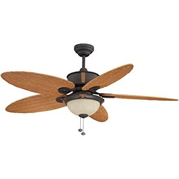 Litex E Eh52non5c1s Earhart Collection 52 Inch Indoor/outdoor Pertaining To Most Recent Outdoor Ceiling Fans With Bamboo Blades (View 9 of 15)