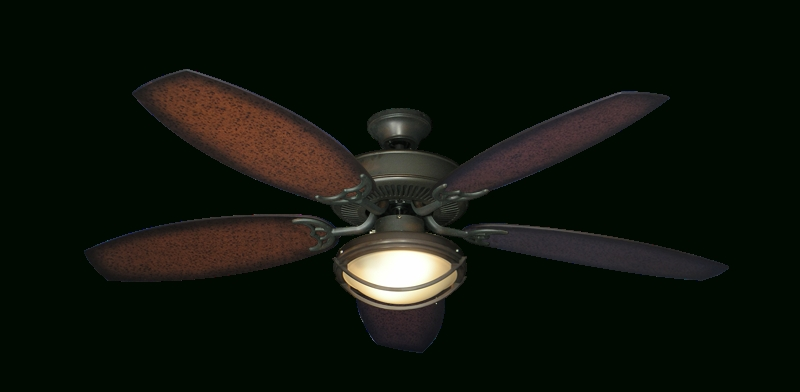 Low Profile Outdoor Ceiling Fans With Lights Pertaining To 2017 Incredible Bermuda Oil Rubbed Bronze Ceiling Fan With 52 Aged (View 9 of 15)