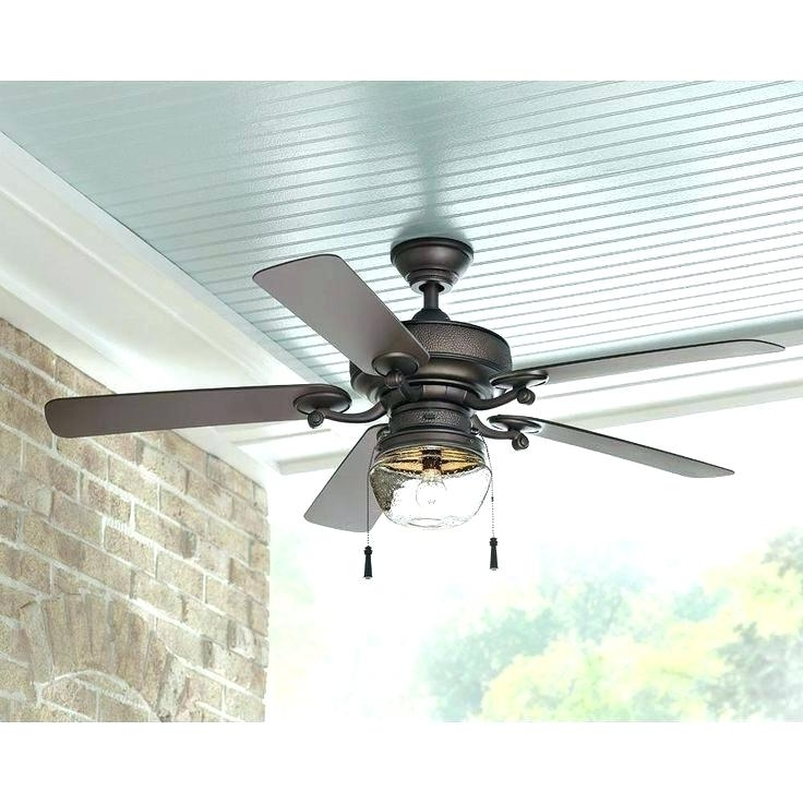 Metal Outdoor Ceiling Fans With Light Pertaining To Most Recent Outdoor Metal Ceiling Fans – Ccforrester (View 9 of 15)