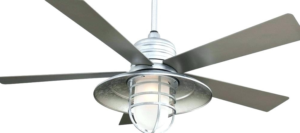 Metal Outdoor Ceiling Fans With Light Regarding Most Popular Outdoor Metal Ceiling Fans Galvanized Outdoor Ceiling Fan Galvanized (View 5 of 15)