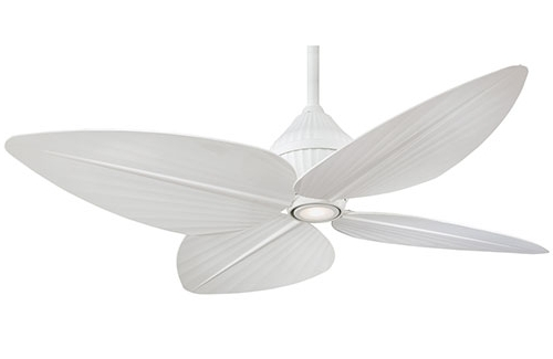 "Minka Aire F581 Whf Gauguin 52"" Ceiling Fan White (View 5 of 15)"