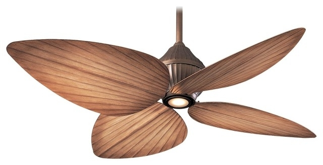 """Minka Aire Gauguin Oil Rubbed Bronze 52"""" Outdoor Ceiling Fan Intended For Popular Tropical Design Outdoor Ceiling Fans (View 3 of 15)"""