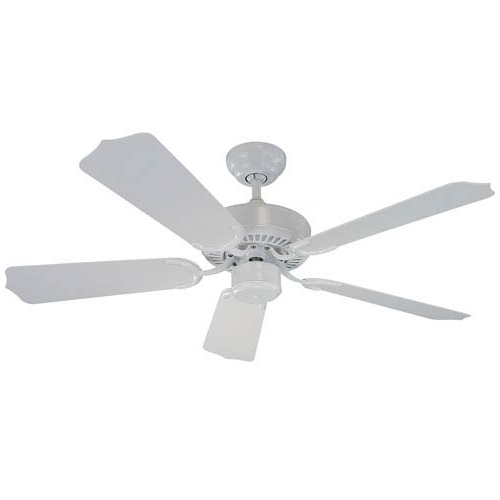 Monte Carlo Weatherford Ii 42 Inch White Outdoor Ceiling Fan With With Most Current 42 Inch Outdoor Ceiling Fans (View 15 of 15)
