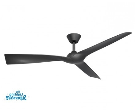 "Most Current 52"" Trinidad Ii Black Ceiling Fan – Plastic Moulded Blade Ceiling Fan Regarding Gold Coast Outdoor Ceiling Fans (View 8 of 15)"