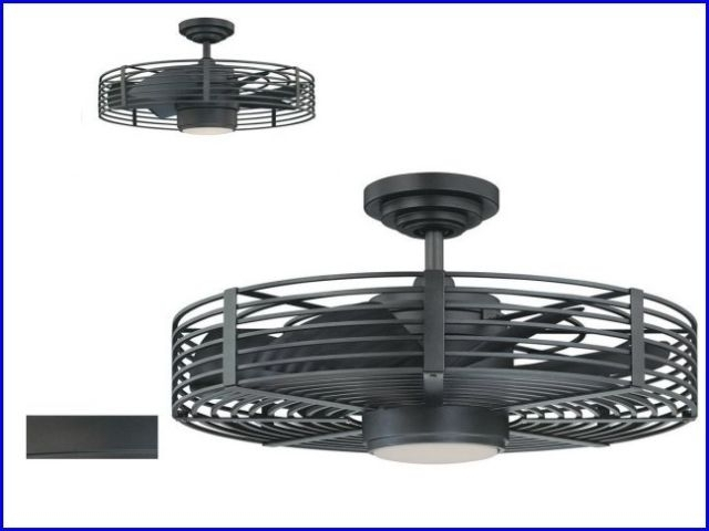 Most Current Attractive Enclosed Blade Ceiling Fan At Lighting And Fans For Inside Outdoor Caged Ceiling Fans With Light (View 4 of 15)