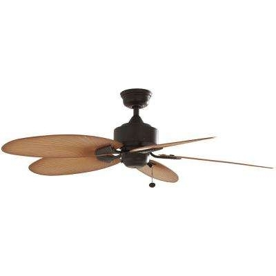 Most Current Flush Mount Outdoor Ceiling Fans For Flush Mount – Outdoor – Ceiling Fans – Lighting – The Home Depot (View 6 of 15)