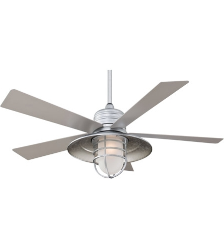 Most Current Galvanized Outdoor Ceiling Fans Regarding Rainman 54 Inch Galvanized With Silver Blades Outdoor Ceiling Fan In (View 11 of 15)