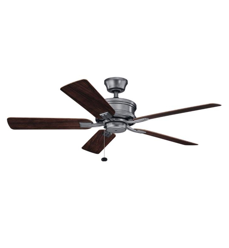 "Most Current Kichler 310220 Tess 5 Blades 52"" Indoor/outdoor Ceiling Fan With Within Outdoor Ceiling Fans With Pull Chains (View 10 of 15)"