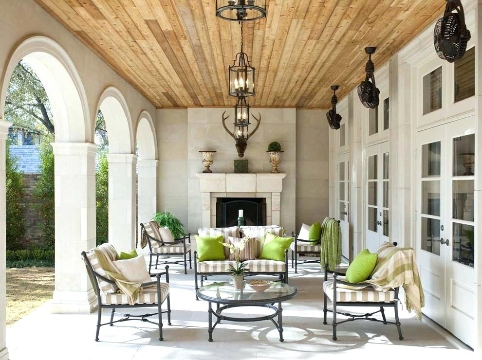 Most Current Outdoor Porch Ceiling Ideas Gorgeous Outdoor Patio Ceiling Ideas In Outdoor Patio Ceiling Fans With Lights (View 13 of 15)