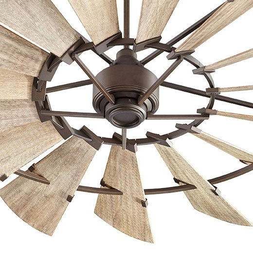 """Most Current Rustic Outdoor Ceiling Fans Throughout 72"""" Windmill Fanquorum International — Farmhouse — Rustic (View 8 of 15)"""