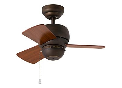 Most Popular 24 Inch Outdoor Ceiling Fans With Light Intended For Monte Carlo 3Tf24Rb, Micro 24 Inch Ceiling Fan, Indoor/outdoor (View 12 of 15)