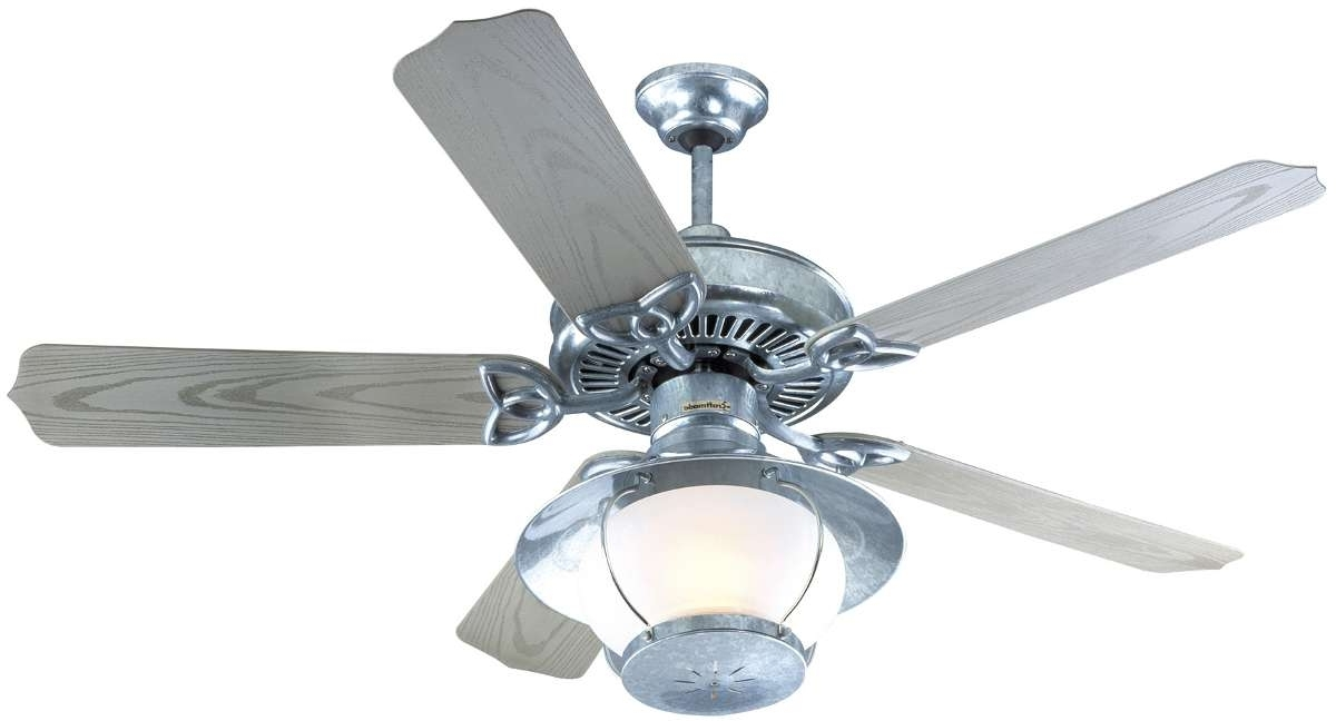Most Popular Galvanized Outdoor Ceiling Fans With Light Pertaining To Fresh Galvanized Ceiling Fan The Barnstormer # (View 10 of 15)