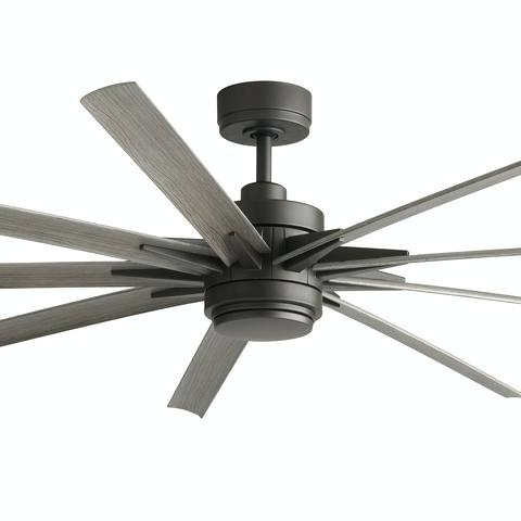 Most Popular Grey Outdoor Ceiling Fans Inside Gray Ceiling Fan Led Ceiling Fan Matte Gray Grey Outdoor Ceiling (View 9 of 15)