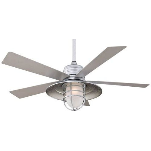 Most Popular Outdoor Ceiling Fans With Galvanized Blades With Minka Aire Rainman Galvanized 54 Inch Blade Indoor/outdoor Ceiling (View 3 of 15)