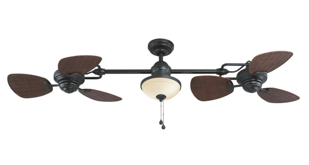 Most Recent Dual Outdoor Ceiling Fans With Lights In Mesmerizing Dual Blade Ceiling Fans Home Ideas Simple Design (View 12 of 15)