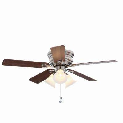 Most Recent Flush Mount – Ceiling Fans – Lighting – The Home Depot With Regard To 20 Inch Outdoor Ceiling Fans With Light (View 9 of 15)