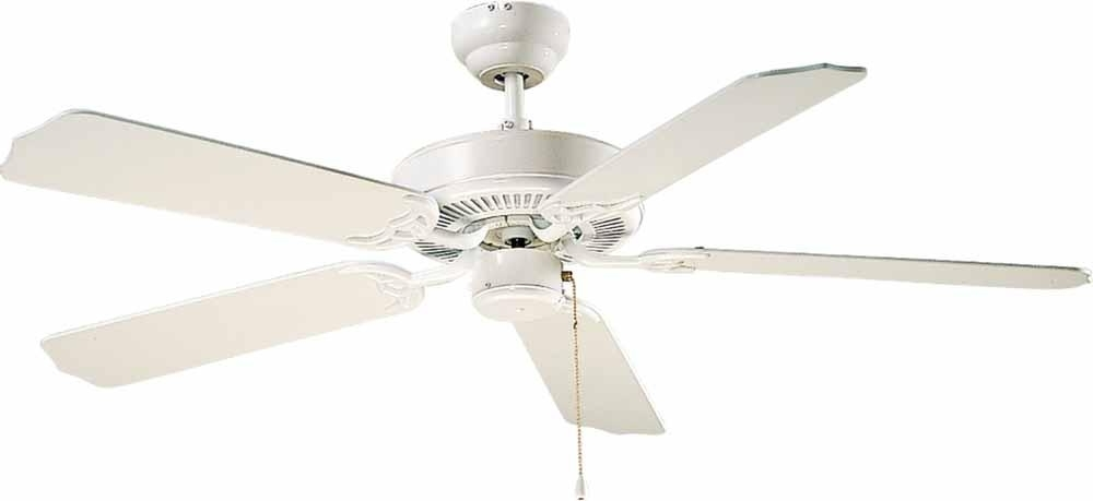 Most Recent High Volume Outdoor Ceiling Fans Intended For White Outdoor Ceiling Fan : V5953 (View 12 of 15)