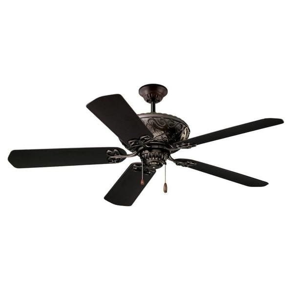 Most Recent Oil Rubbed Bronze Outdoor Ceiling Fans For Emerson Devonshire 52 Inch Oil Rubbed Bronze Traditional Indoor (View 5 of 15)