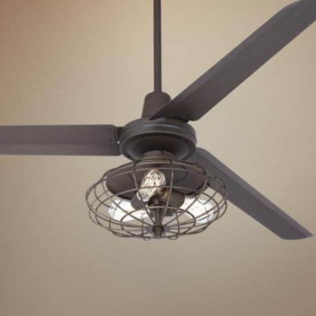 Most Recent Outdoor Caged Ceiling Fans With Light Intended For Caged Ceiling Fan With Light Bedroom Stunning Kit Regarding  (View 5 of 15)